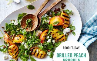 Grilled Peach Arugula Salad