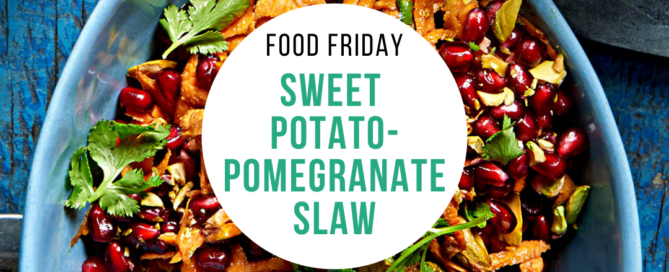 Sweet Potato-Pomegrante Slaw