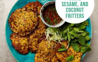Corn, Sesame, and Coconut Fritters
