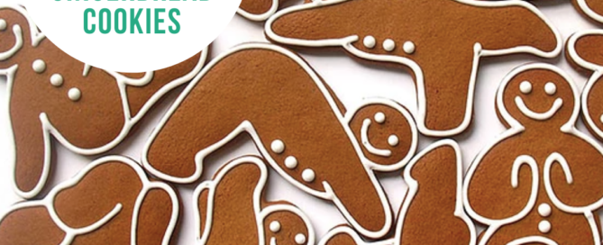 Healthier Yoga Gingerbread Cookies