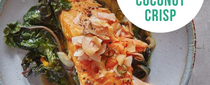 Turmeric Salmon with Coconut Crisp