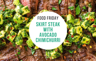 Skirt Steak with Avocado Chimichurri