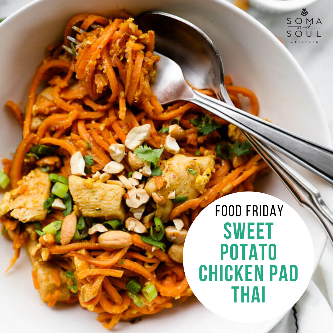 Sweet Potato Chicken Pad Thai