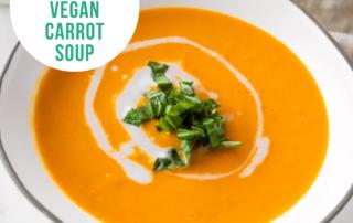 Creamy Vegan Carrot Soup